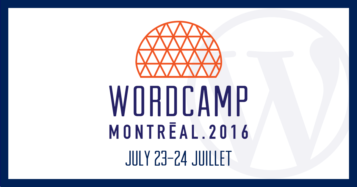 WordCamp Montreal 2016