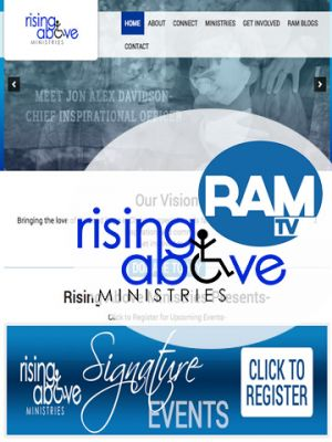 Rising Above Ministries web design