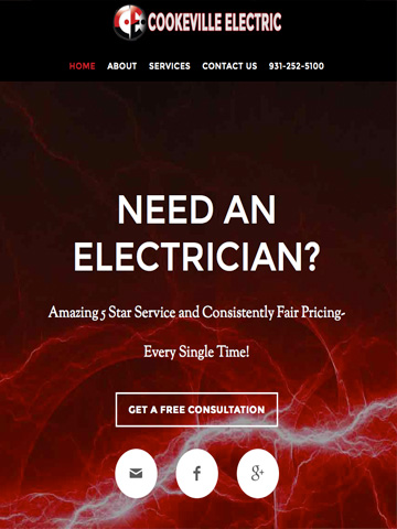 Electical company needed a High_Voltage web presence